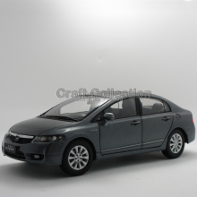 Silver 1:18 2009 Honda Civic 8 Alloy Model Car Diecast Model Show Car Miniature Toys