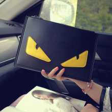 2016 Women Monster Bags Designer Clutch Bag Fashion Ladies Messenger Bag Shoulder Satchel Envelope Novelty Small Eyes Handbags