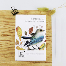 30 pcs/lot Beautiful birds flowers cards card Marine animals postcard landscape greeting card christmas card  message gift
