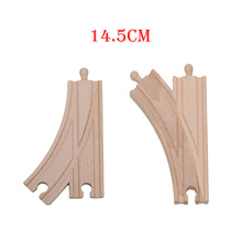 14.5cm Set of 2 Single Curved 2 Way Switch Tracks Educational Blocks Toys Railway Accessories bloques de construccion(China)