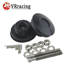 VR RACING - Universal Black Push Button Billet Hood Pins Lock Clip Kit Car Quick Latch New Engine Bonnets Red VR-HP31BK(China)