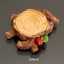 Fashion Small Tree Stump for Miniature Garden Ornament DIY Mushroom Craft Pot Fairy Dollhouse Party Decoration 1x4cm