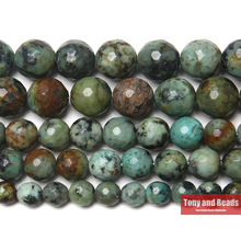 "Free Shipping New Arrival Faceted African Turquoises Gem Beads 15"" Strand 6 8 10 mm Pick Size For Jewelry Making(China)"