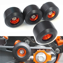 Sale Motorcycle Protection Front & Rear Fork Wheel Frame Sliders Crash Pads For KTM RC 125 200 390 RC390 2014 2015 2016 2017(China)