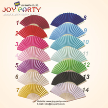 50pcs/lot Free Shipping 21cm solid color silk hand fan wedding decoration party promotion gift favor(China)