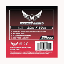100 PCS/Bag Mayday Card Game Sleeve Standard Thickness 80*80mm Square MDG Transparent Card Protector  Board Game Sleeve