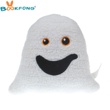 BOOKFONG Smiley Ghost Emoji Pillow Plush Toy Soft Emoticon Stuffed Animal Doll Funny Expression Cushion Children Gift 26*22cm(China)