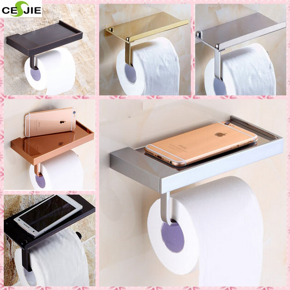 Newly Arrival Free Shipping Wall Mounted Bathroom Shower Tolite Paper Holder Rack Bathroom Accessories<br><br>Aliexpress