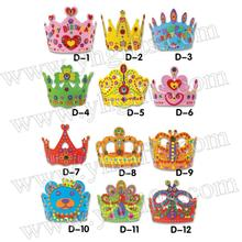 12PCS/LOT.DIY unfinished birthday crown craft kits,Princess crown,Birthday party favor,Kids party supplies,Mixed design.