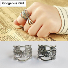 Authentic 100% 925 Sterling Silver Jewelry Sexy Seductive Snake Pattern Python Lines Open Rings