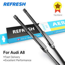 REFRESH Wiper Blades for Audi A8 D2 / D3 / D4 Fit Hook Arms / Slider Arms / Push Button Arms From 1994 to 2017(China)