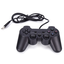 Black USB PC Computer Wired Gamepad Game Controller Joystick