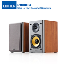 Edifier R1000T4 Ultra-stylish bookshelf Speaker with Uncompromising Sound Speakers Featuring 4 inch Bass Driver for Home Theatre(China)