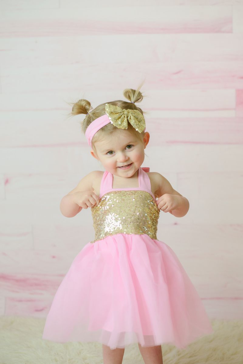 Pink Gold Glitter Tulle Dress Babys 1st Birthday Dress Pink &amp; Gold Sequin Tutu Dress Pink and Gold Sequin Easter Dress<br><br>Aliexpress