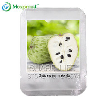 10 pcs SOURSOP Graviola Guanabana Annona muricata SEEDS Tropical Fruit NO-GMO good for health Professional Packing(China)
