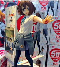 K-ON! 18cm Hirasawa Yui Action Figures PVC brinquedos Collection Figures toys for christmas gift with Retail box free shipping(China)