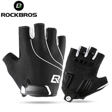 ROCKBROS Cycling Bike Gloves Half Finger Shockproof Breathable MTB Mountain Bicycle Sports Gloves Men Women Cycling Equipment(China)