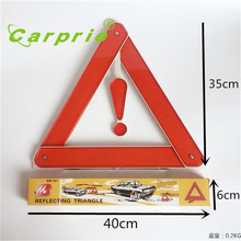 car-styling 2017 Folding Car Emergency Tripod Reflective Automobile Traffic Warning stop sign car styling july17(China)