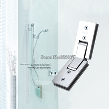 1PCS Shower room rectangle 135 degree mirror glass hinge square stainless steel bathroom shower hinge clip HM17