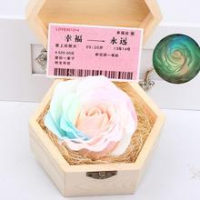 Handmade Soap Flower Eternal Flowers Luminous Colorful Roses Party Gift Soap Rose with Box For Mother's Day Gift