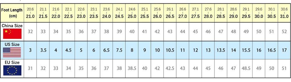 Size Chart 960