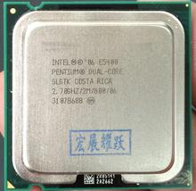 E5400 Desktop computer processor intel used cpu dual core 2 Duo Cpu 2.7GHz 2MB/800MHz LGA 775 Free Shipping scrattered pieces(China)