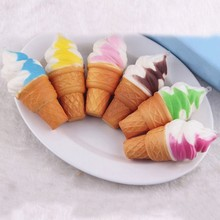 Ice Cream Pendant phone Straps Scented Cream Kawaii Ice Cream Decompress Toys Slow Up Charm Kid Toys Gift