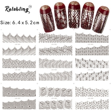 2017 New Arrival Various Shapes Traditional China Series Nail Sticker Nail Art Decorations Stickers Nails Lace Sticker