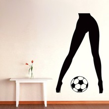 Wall Decals Vinyl Decal Sticker Art Mural Gym Decor Sport Girl Soccer Ball
