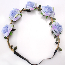 M MISM Fashion Sale Women Flowers Headband Floral Headwear Hair Band Hair Accessories(China)