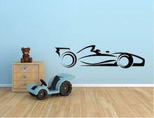 Hot Selling Racing Car Vinyl Wall Sticker Indy Car F1 Nascar Racing Mural Art Wall Decal Kids Room Boy Bedroom Home Decoration