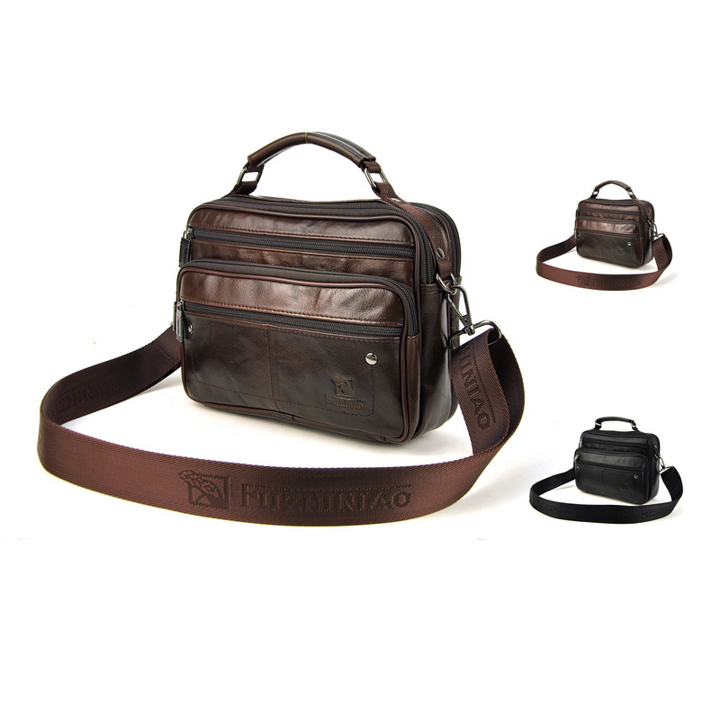 New Famous Brand Casual Men Messenger Bag Cowhide Genuine Leather Bags Business High Quality Shoulder Designer Bag Handbags<br><br>Aliexpress