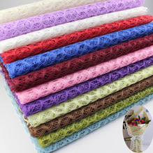 10pcs/lot 70CMX50CM Luxury Lemon  Mesh wrapping paper flower packing material wedding party decorations