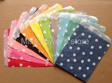 25 PCS Dot Pattern Treat Craft Bags Favor Food Paper Bags Party Wedding Birthday Decoration Color 1-11