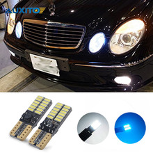 For Mercedes W211 W203 W204 W210 W124 W202 W220 W164 X204 AMG T10 W5W LED Canbus Parking Light 4014SMD 24 Leds Clearance Light