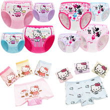 Buy ADIASEN 3pcs/lot Hello Kitty Cute Cartoon Princess Girls Underwear Shorts Boxer Hipster Knickers Briefs Comfortable Cotton