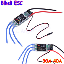 Wholesale 4pcs/lot BLHeli ESC 3S-6S 30A 40A ESC Electric Speed Control With Led For RC Quadcopters Multicopter Drop freeship