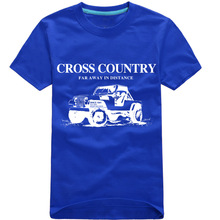 New Arrivals Men T Shirts Printing Off-road vehicle Short Sleeved 100% Cotton cross country Male T-Shirt For Men(China)