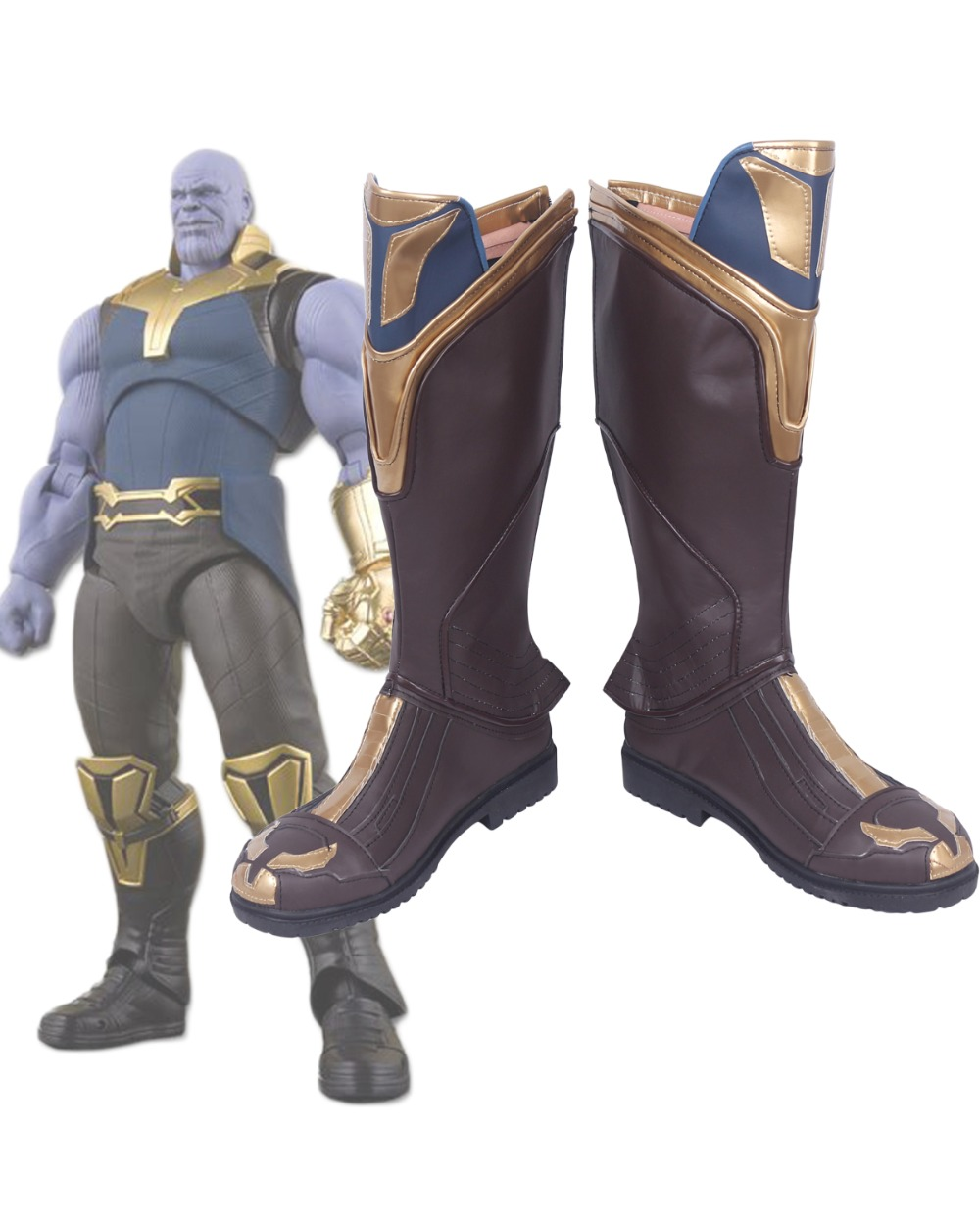 Avengers Infinity War Thanos Cosplay Boots Shoes Custom Made Halloween Prop