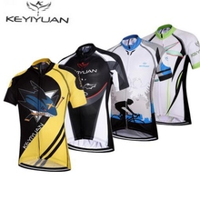 Hot KEYIYUAN Children MTB Cycling Jersey Tops Kids Bike Bicycle Clothing Team Ropa Ciclismo Boy Shirts sportswear Breathable