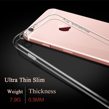 Ultra Slim Transparent Crystal Clear Soft TPU Silicone Rubber Protect Camera Cover Case for iPhone 7 Plus with Dust Plug 20pcs