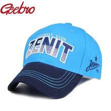 Geebro ZENIT FOOTBALL CLUB Baseball Cap Snapback Baseball Hat Men's Cap Soccer Full Closed Caps Sports Snapback Caps Hockey Hats