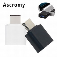 Ascromy 100PCS USB-C to USB 3.0 OTG Adapter for MacBook Pro Samsung S8 Plus LG G5 G6 Oneplus 3t huawei P9 Plus cabo type c Cable