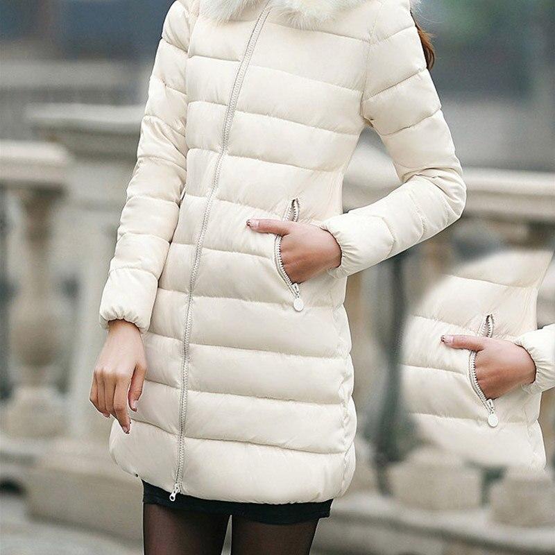 2016 Winter Women Of Large Wool Collar Down Jacket Womens Of Thickening Warm Slim ClothingÎäåæäà è àêñåññóàðû<br><br>