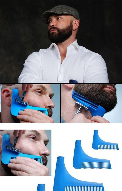 3pcs natural wooden beard comb boar bristle hair brush lice comb men beard apron barber salon cape hairdressing for haircut 15