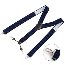 Man's Suspenders New 4 Clips Braces Elastic Adjustable Suspensorio Fashion Tirantes Casual Trousers ligas cowboy's Gift