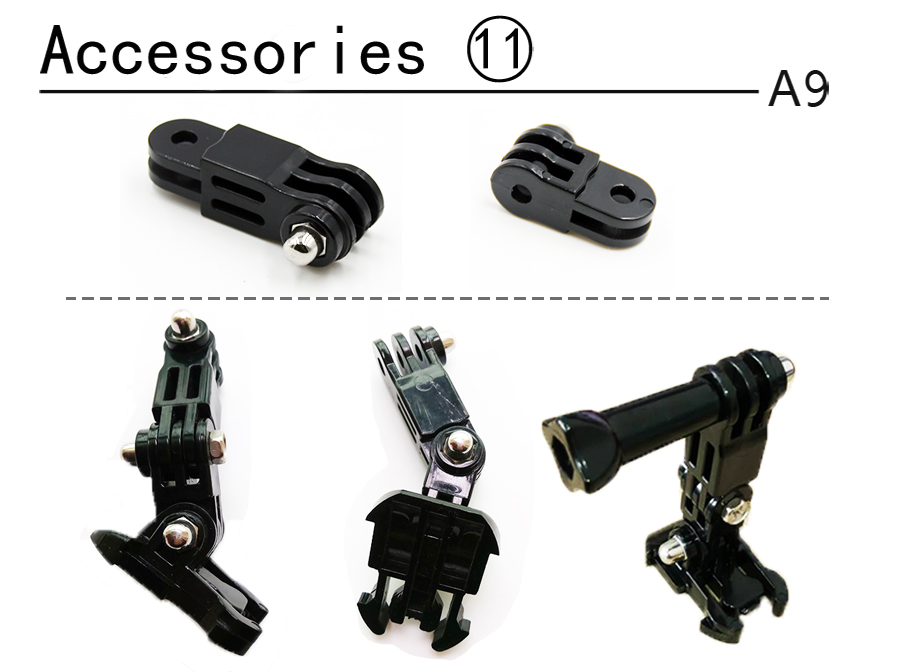 A9 DIY for Gopro Accessories set for go pro hero 6 5 4 3 kit mount for xiaomi yi/SJCAM SJ4000/eken h9/sony action cam tripod