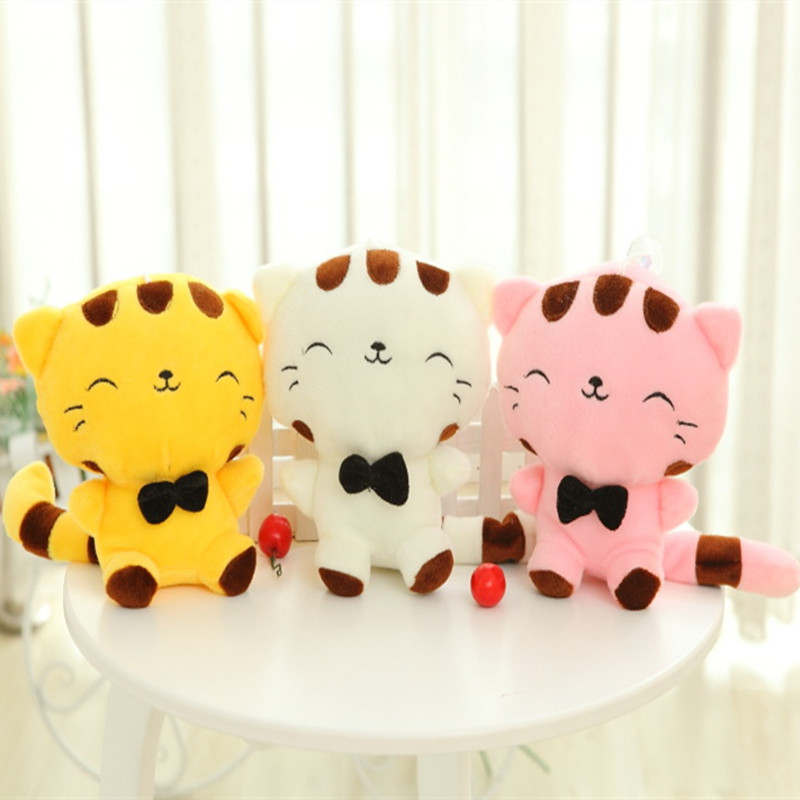 20CM Lovely Big Face Smiling Cat Stuffed Plush Toys Soft Animal Dolls Factory Lowest Price Best Gifts For Kids High Quality(China (Mainland))