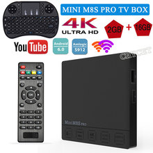 Mini M8S PRO HD Amlogic S912 Octa Core Cortex A53 64Bit 2G 16G 3G 32G Smart Android6.0 TV Box 2.4G+5.8G WIFI Set-top Box(China)