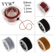 20Yard Elastic Thread Cord DIY Beading Stretch Cord Elastic Line, Round Beading Wire/String Jewelry Making 0.8 1 1.2 1.5 mm